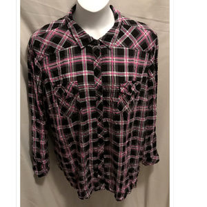 Size 5X Torrid Plaid Shirt